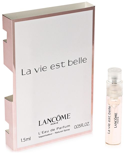 Lancome Receive a FREE La vie est belle sample with any fragrance purchase