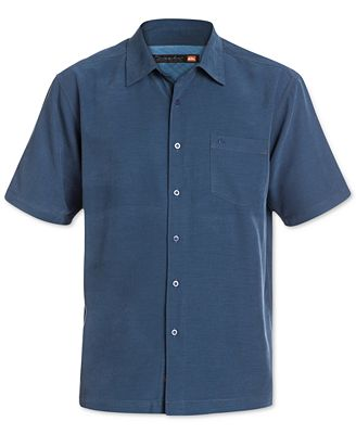 Quiksilver Waterman Men's Clear Days Solid Short-Sleeve Shirt ...