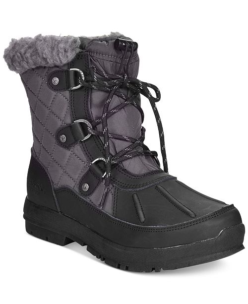 BEARPAW Women's Bethany Lace-Up Waterproof Cold Weather Booties