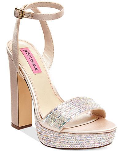 Betsey Johnson Alliie Platform Evening Sandals