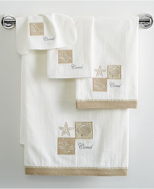 "Avanti Metallic Shells 27"" x 50"" Bath Towel"