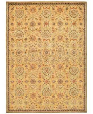 """Home Ancient Times Persian Treasures Gold 3'9"""" x 5'9"""" Area Rug"""