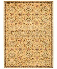 "Home Ancient Times Persian Treasures Gold 7'9"" x 10'10"" Area Rug"