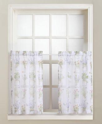 "Eve's Garden 54"" x 24"" Pair of Tier Curtains"