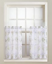 """Lichtenberg Eve's Garden 54"""" x 36"""" Pair of Tier Curtains"""