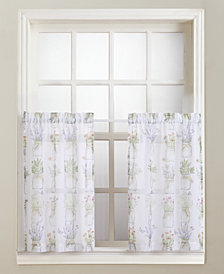 "Lichtenberg Eve's Garden 54"" x 36"" Pair of Tier Curtains"