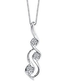 Sirena Diamond Swirl Pendant Necklace (1/10 ct. t.w.) in 14k White Gold