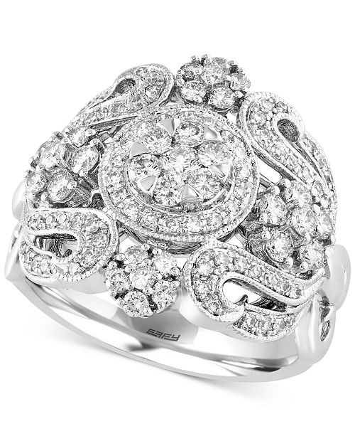 EFFY Collection Bouquet by EFFY Diamond Ring (1-1/10 ct. t.w.) in 14k White Gold