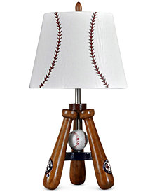 StyleCraft Little League Tripod Baseball Bat Table Lamp