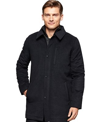 Calvin Klein Men's Wool-Blend Car Coat - Coats & Jackets - Men