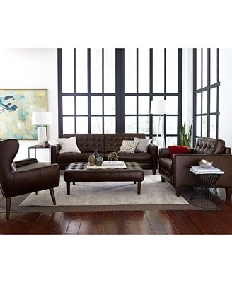 Bray Button Tufted Sofa Collection Furniture Macy S