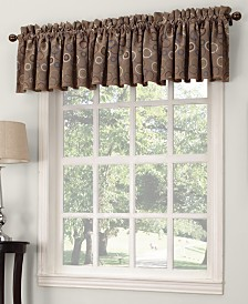 "Sun Zero Rowan All Over Circle Pattern Room Darkening 54 x 18"" Valance"