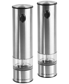 Cole & Mason Battersea Lighted Electric Salt & Pepper Mill Set