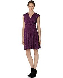 Taylor Maternity Printed Wrap Dress