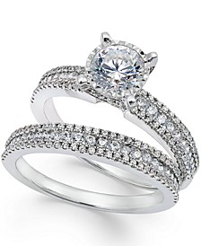 Pavé Bridal Set (1-1/2 ct. t.w.) in 14k White Gold