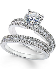 TruMiracle® Pavé Bridal Set (1-1/2 ct. t.w.) in 14k White Gold