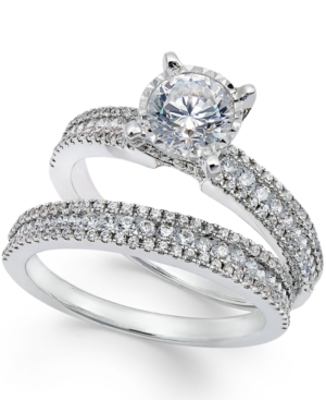 TruMiracle Pave Bridal Set (1-1/2 ct. t.w.) in 14k White Gold