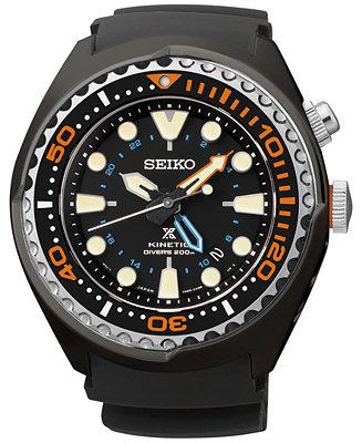 Seiko Men's Automatic Prospex Kinetic GMT Diver SUN023