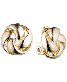 Anne Klein Knot E-Z Comfort Clip-On Earrings
