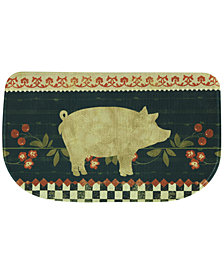 "Bacova Kitchen, Retro Pig 18"" x 30"" Memory Foam Rug"