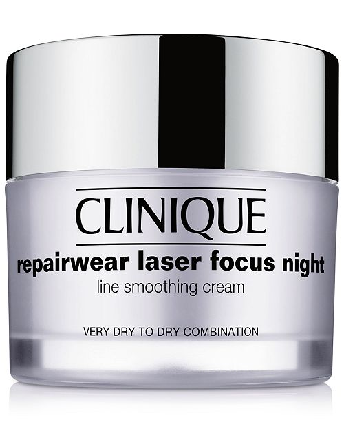 Clinique Repairwear Laser Focus Night Line Smoothing Cream - Very Dry to Dry Combination, 1.7 oz