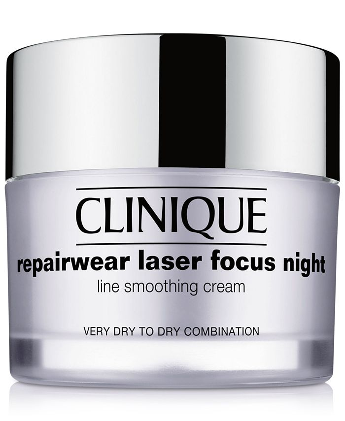 Clinique - Repairwear Laser Focus Night Line Smoothing Cream - Very Dry to Dry Combination, 1.7 oz