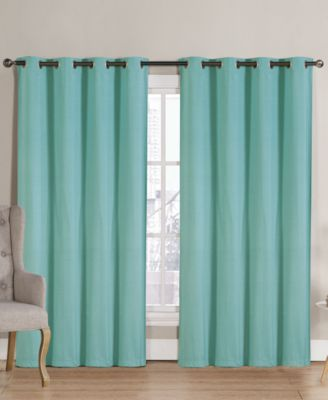 Victoria Classics Neil Blackout Grommet 52u0027u0027 X 90u0027u0027 Curtain Panel