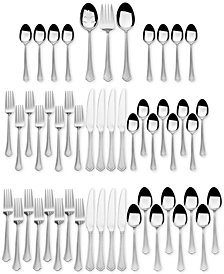 International Silver, Stainless Steel 51-Pc. Capri Frost Finish, Service for 8