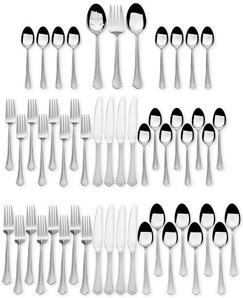 International Silver Stainless Steel 51-Pc. Capri Frost Finish, Service for 8, Created for Macy's
