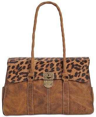 Patricia Nash Leopard Vienna Satchel - Handbags & Accessories - Macy's