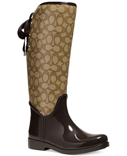 9b79a5c21689 COACH Tristee Rainboots   Reviews - Boots - Shoes - Macy s