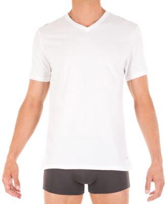 Tommy Hilfiger V-Neck 3 Pack Cotton T-shirt in White