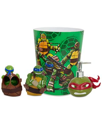 closeout! teenage mutant ninja turtles bath accessories collection