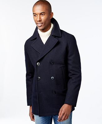 Nautica Big & Tall Wool-Blend Peacoat - Coats & Jackets - Men - Macy's