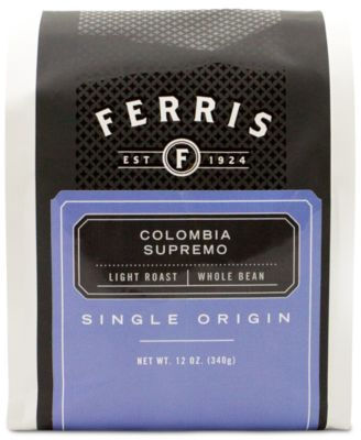 Ferris Colombia Supremo Light Roast Whole Bean Coffee