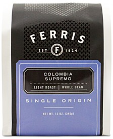 Ferris Colombia Supremo Light Roast Ground Coffee