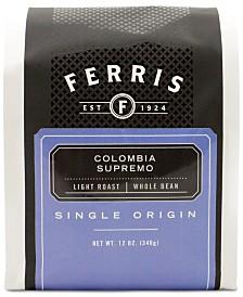 Ferris Colombia Supremo Light Roast Ground Coffee