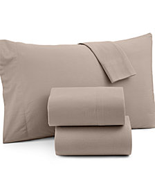 Micro Flannel Solid Full 4-pc Sheet Set
