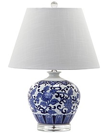 Rose Pattern Round Table Lamp