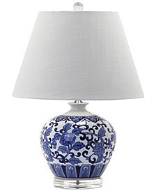 Decorator's Lighting Rose Pattern Round Table Lamp