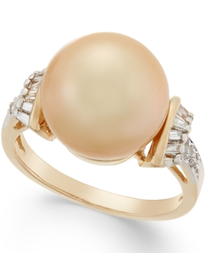 Cultured Golden South Sea Pearl (12mm) and