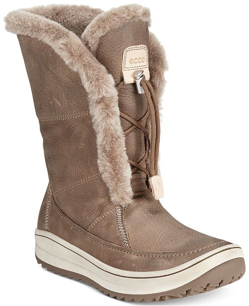 aeea16f4f Ecco Women's Trace Tie Cold Weather Boots & Reviews - Boots - Shoes ...