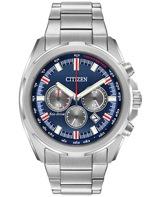 citizen s chronograph eco drive stainless steel