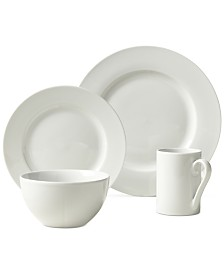 Tabletops Unlimited Soleil 16-Pc. Ash White Set, Service for 4