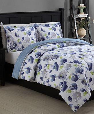 CLOSEOUT! Emily Reversible 3-Piece Full/Queen Comforter Set