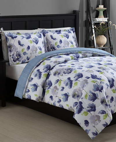 Closeout Emily Reversible 2 Piece Twin Comforter Set Bed In A Bag Bed Amp Bath Macy S