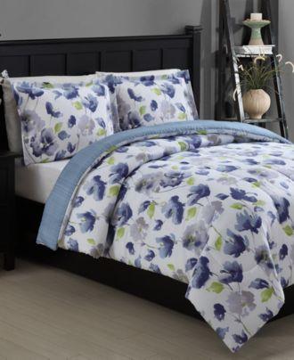 Emily Reversible 3 Piece Full Queen Comforter Set