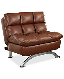 Grayson Faux Leather Chair, Quick Ship
