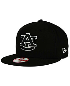 New Era Auburn Tigers Black White 9FIFTY Snapback Cap