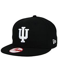 Indiana Hoosiers Black White 9FIFTY Snapback Cap